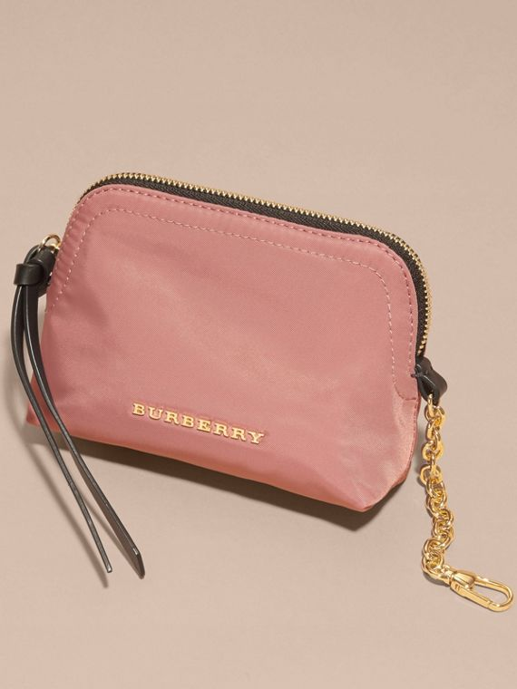 Mauve pink Small Zip-top Technical Nylon Pouch Mauve Pink - cell image 2