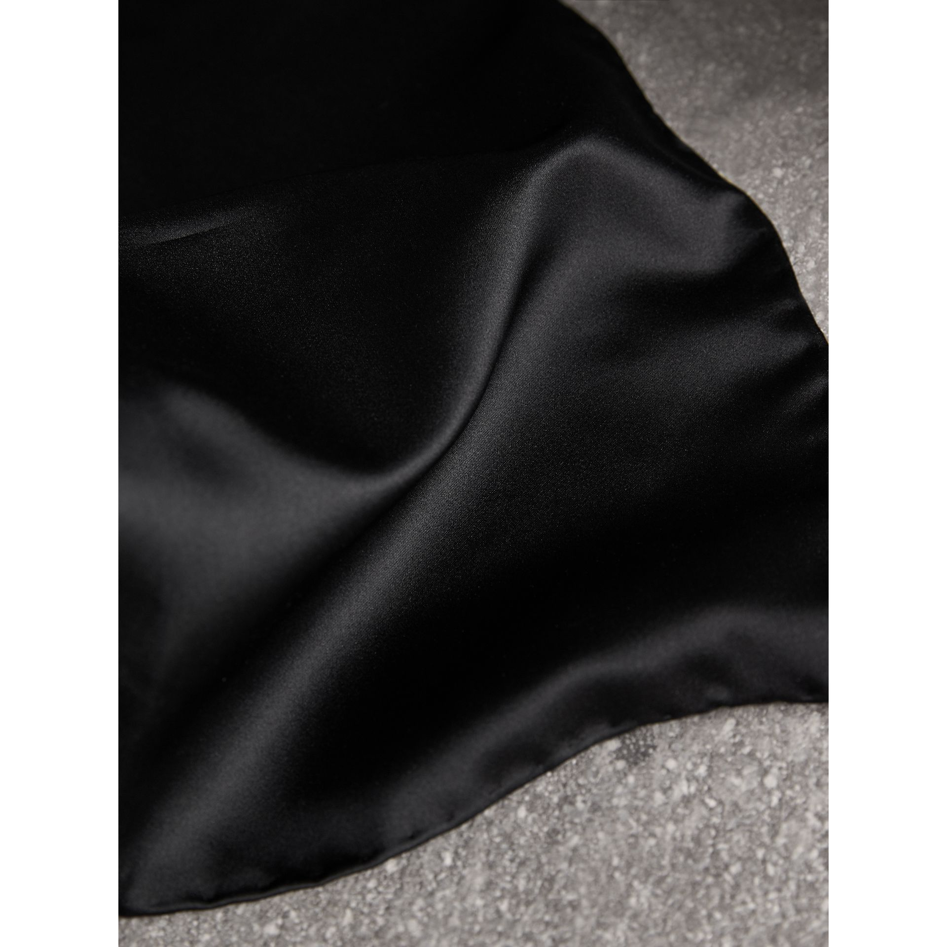 Silk Pocket Square in Black - Men | Burberry United States - gallery image 1