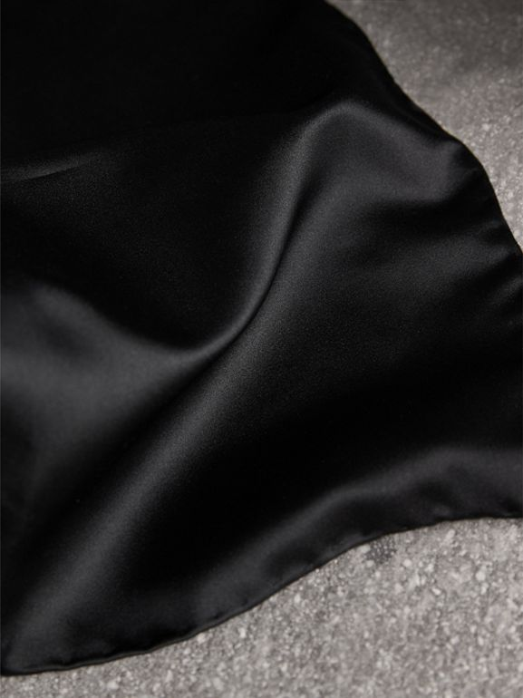 Silk Pocket Square in Black - Men | Burberry United Kingdom - cell image 1