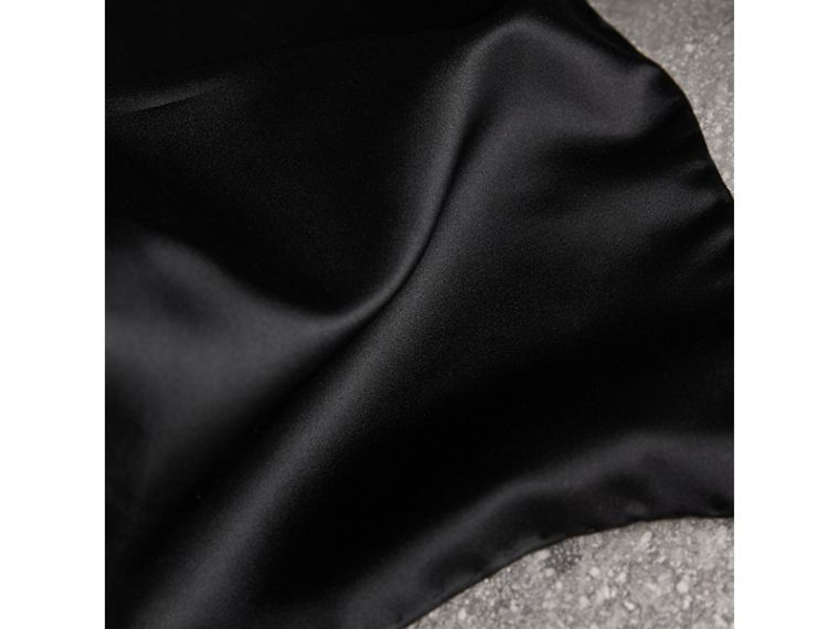 Silk Pocket Square in Black - Men | Burberry United States - cell image 1
