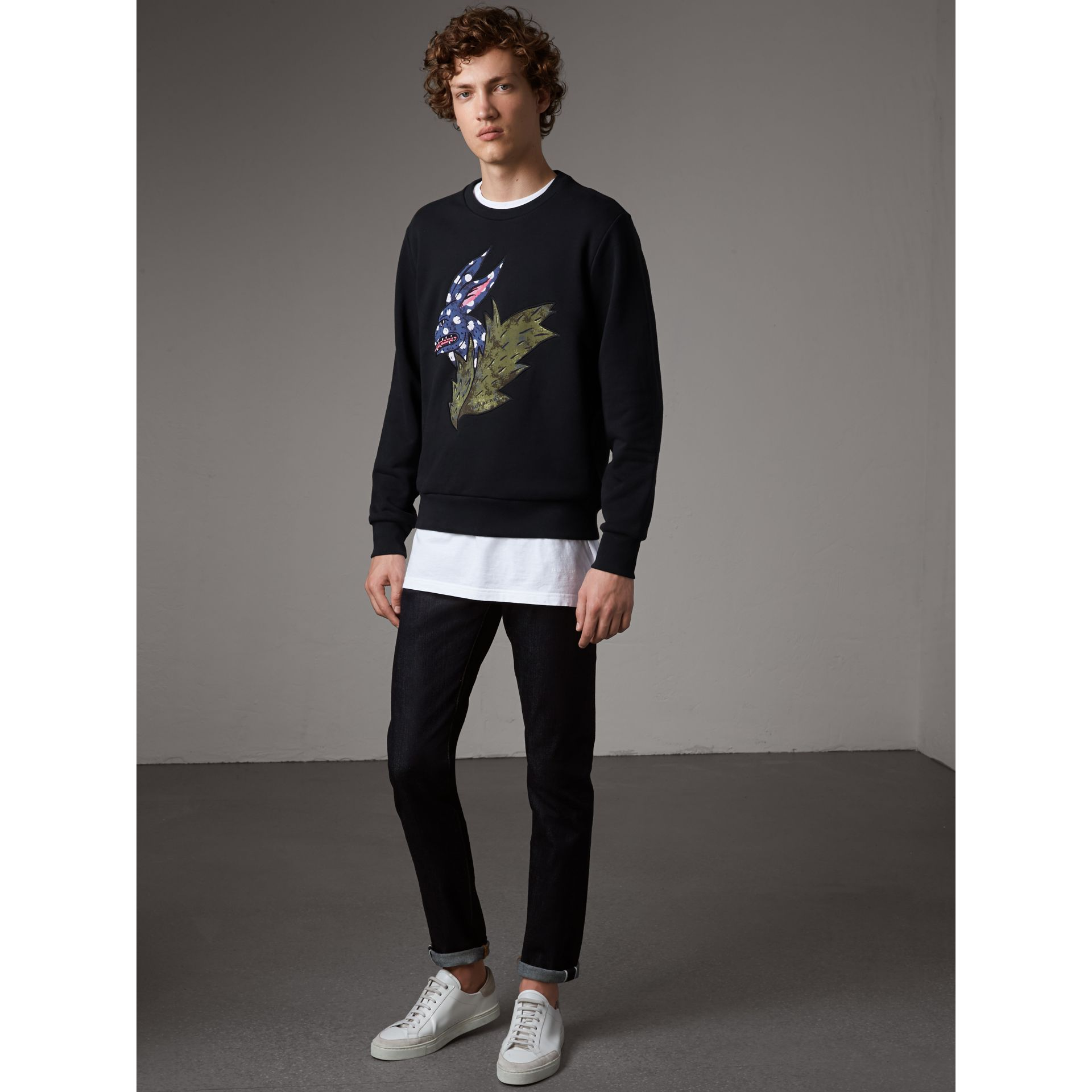 Beasts Motif Cotton Sweatshirt - Men | Burberry Australia - gallery image 5
