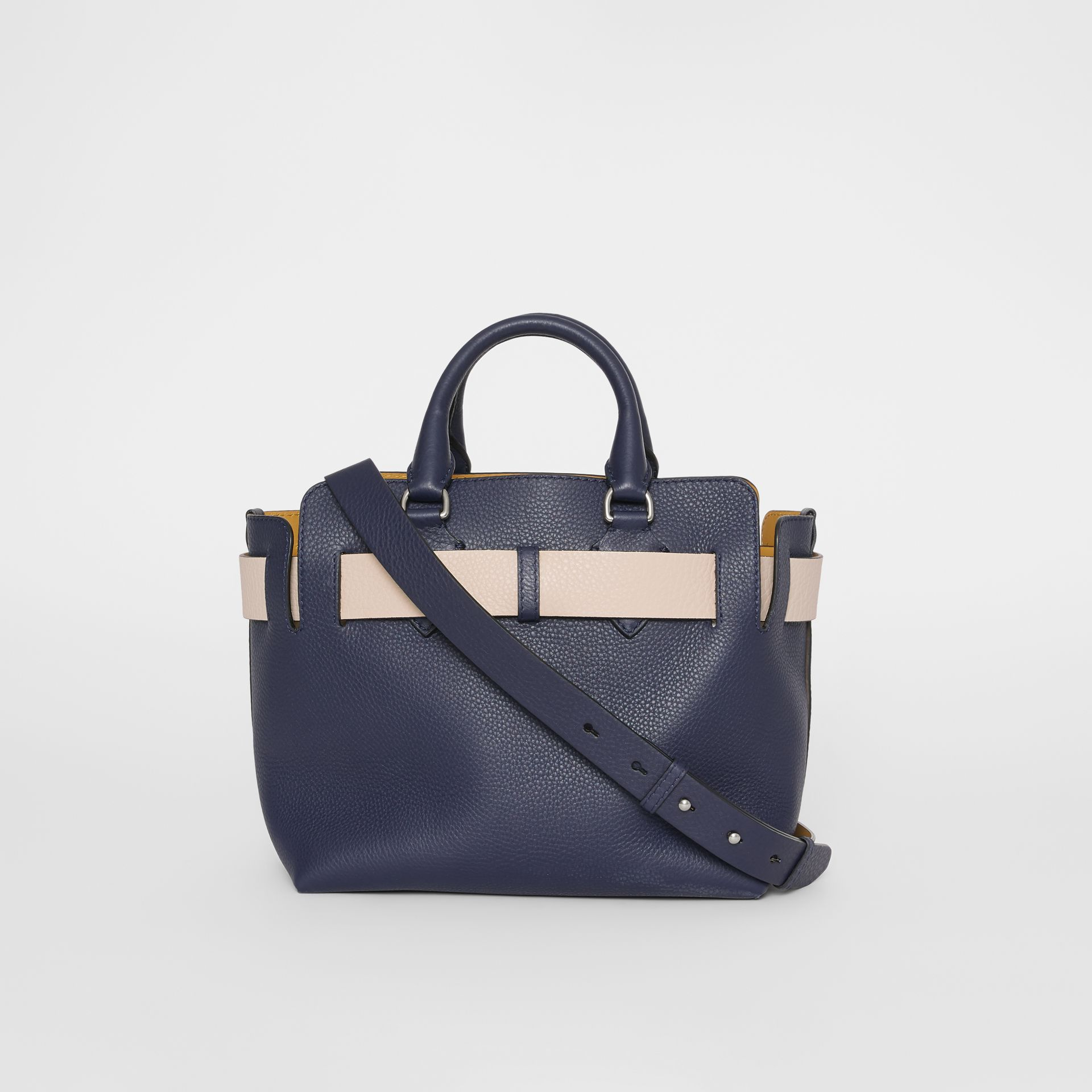 The Small Leather Belt Bag in Regency Blue - Women | Burberry United States - gallery image 7