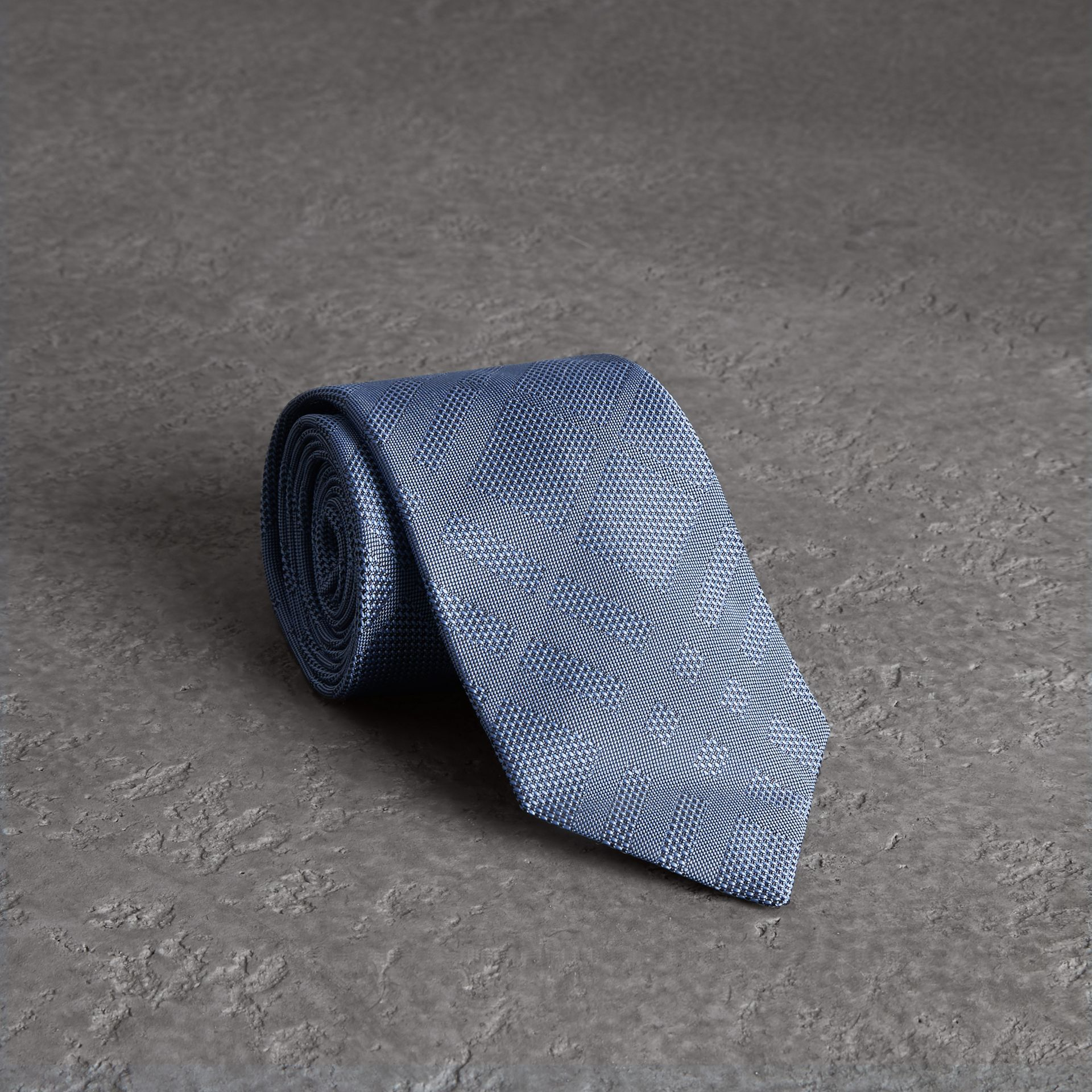 Classic Cut Check Silk Jacquard Tie in Sky Blue - Men | Burberry United States - gallery image 0
