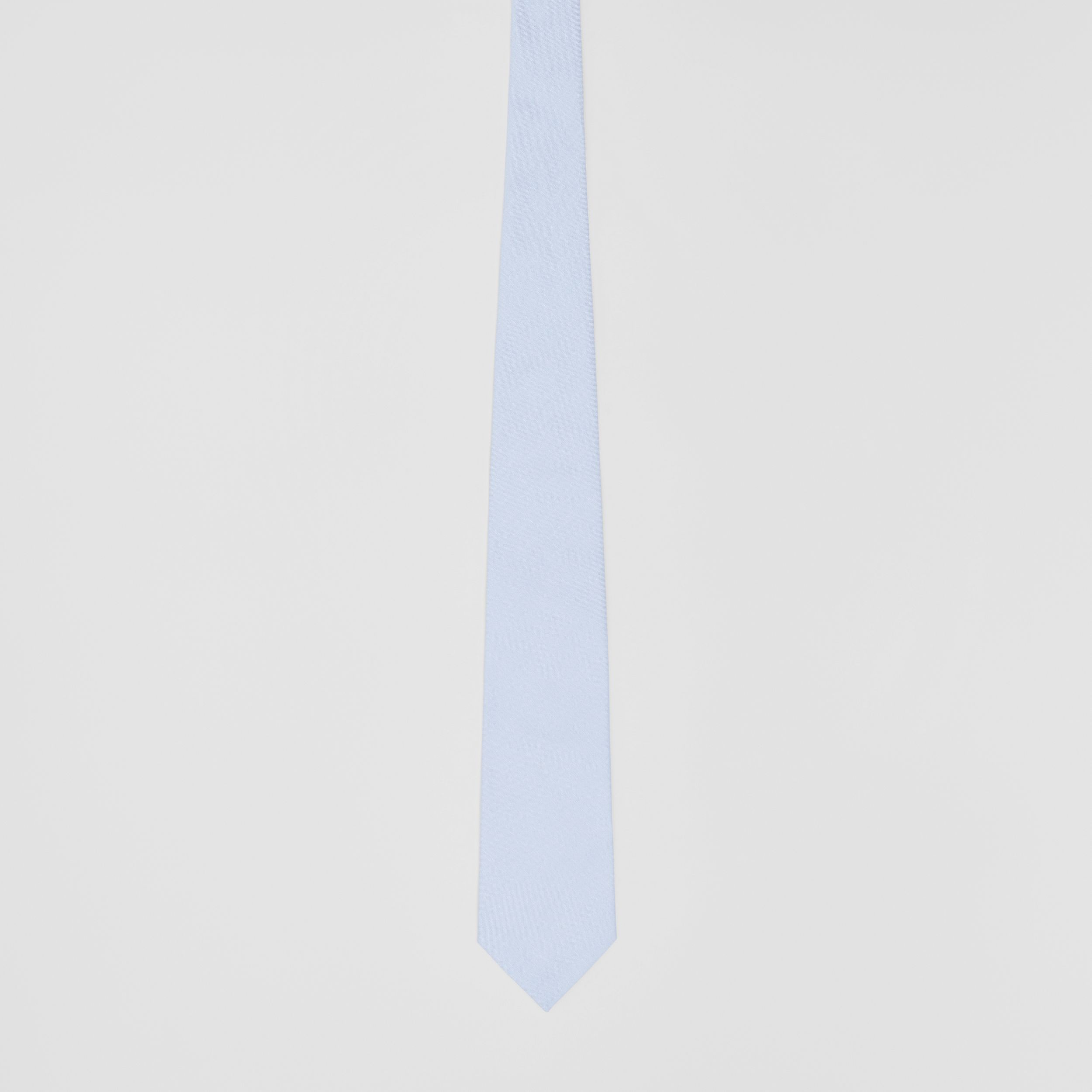 Classic Cut Cotton Tie in Pale Blue - Men | Burberry Canada - 4