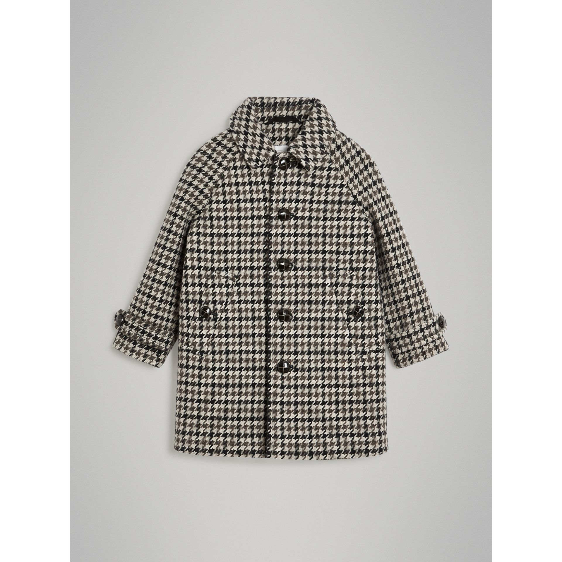 Houndstooth Check Wool Cashmere Blend Coat in Mid Grey | Burberry United Kingdom - gallery image 0