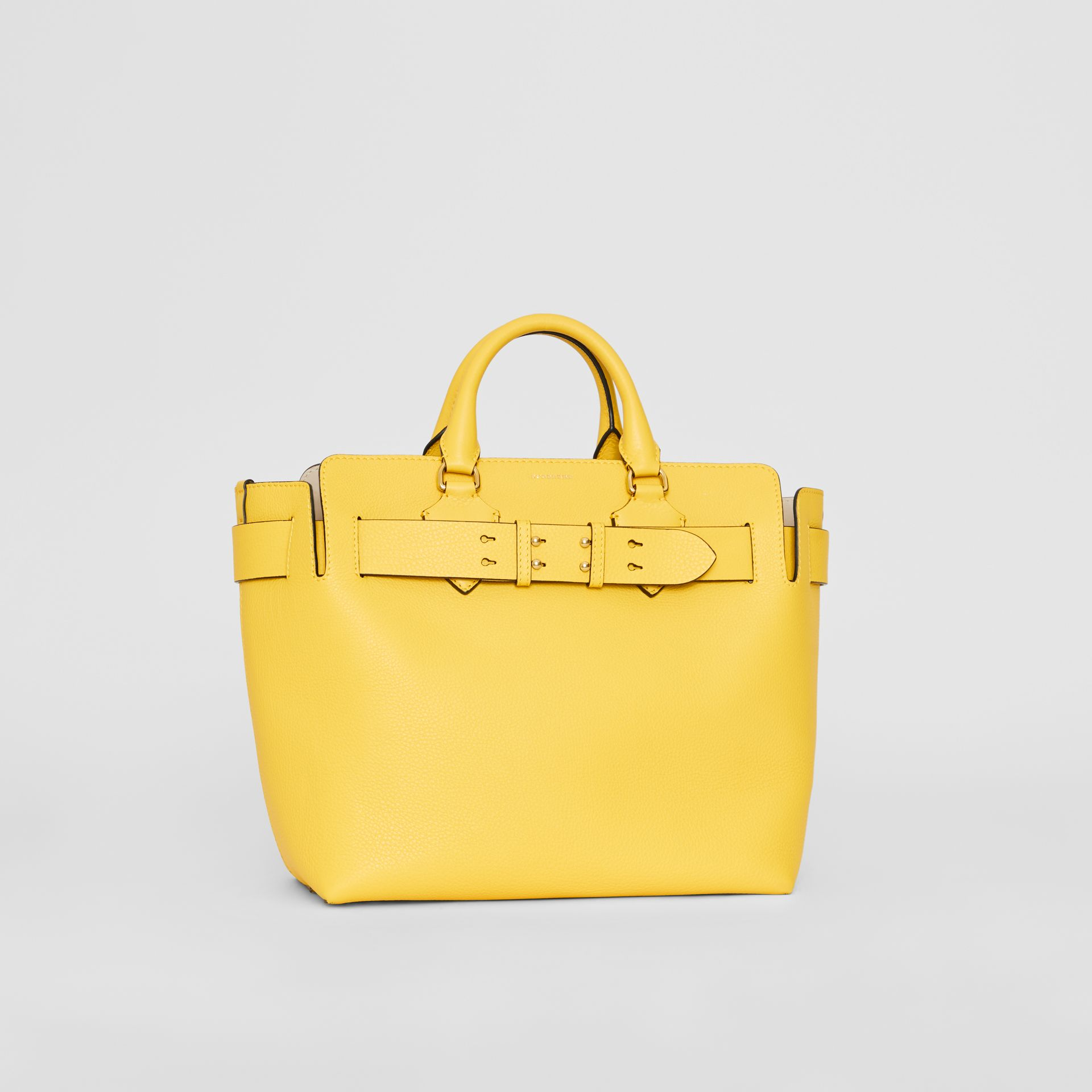The Medium Leather Belt Bag in Bright Larch Yellow - Women | Burberry United Kingdom - gallery image 7