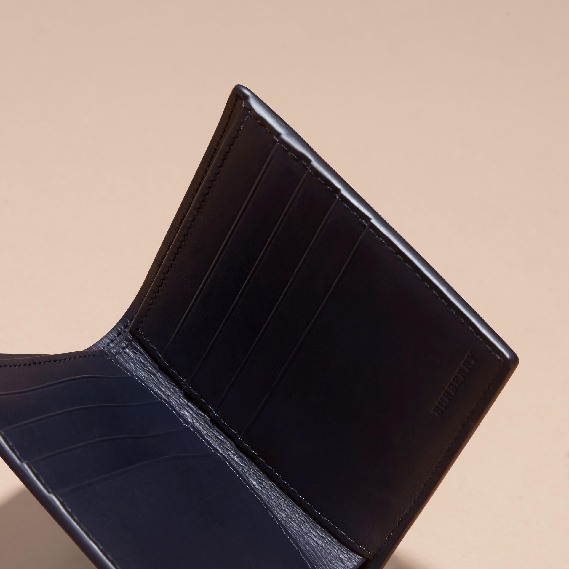 Navy scuro/blu minerale Portafoglio a libro in pelle London con inserti Navy Scuro/blu Minerale - immagine della galleria 5