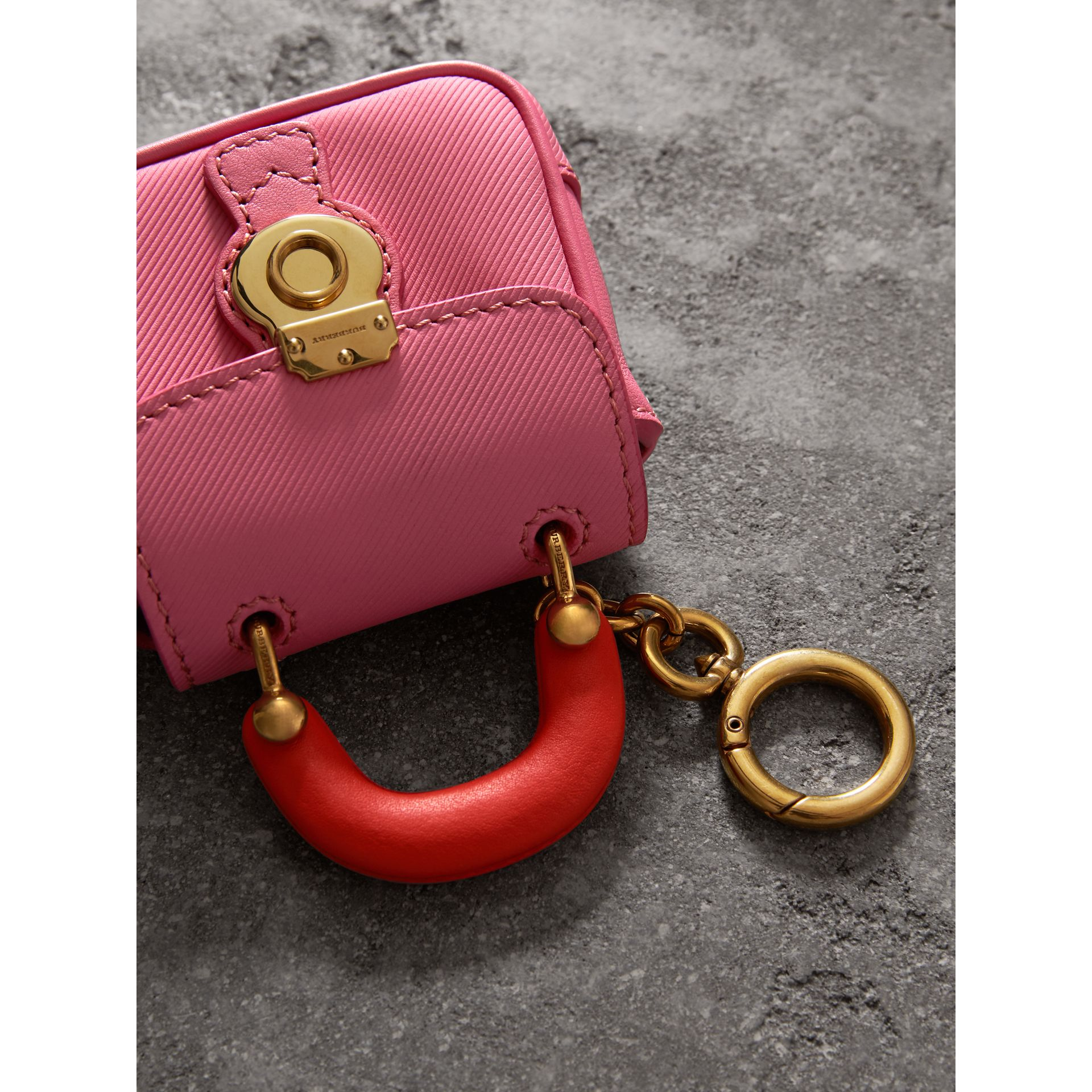 The DK88 Charm in Rose Pink/orange Red | Burberry - gallery image 1