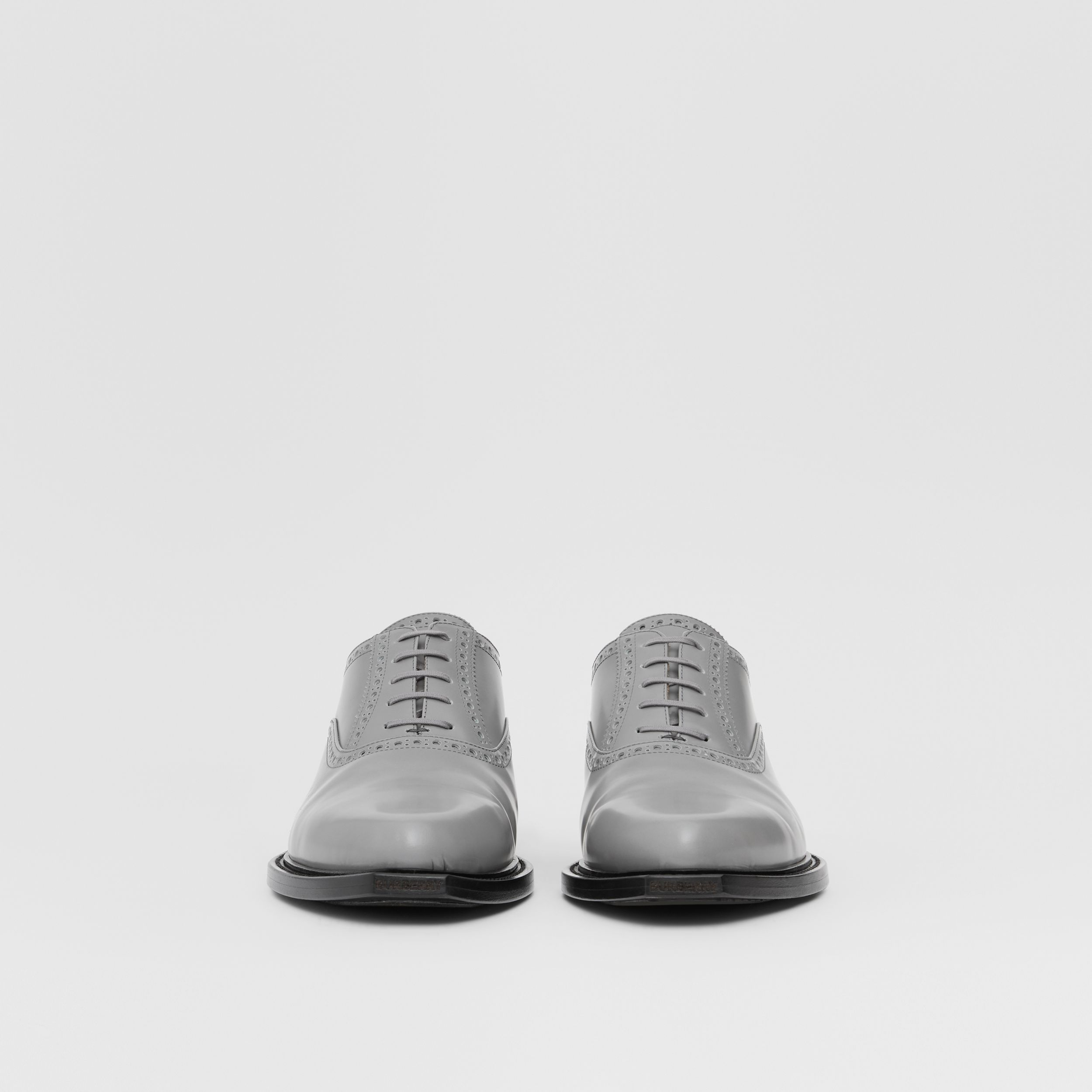 Leather Slingback Oxford Brogues in Cloud Grey - Men | Burberry - 4