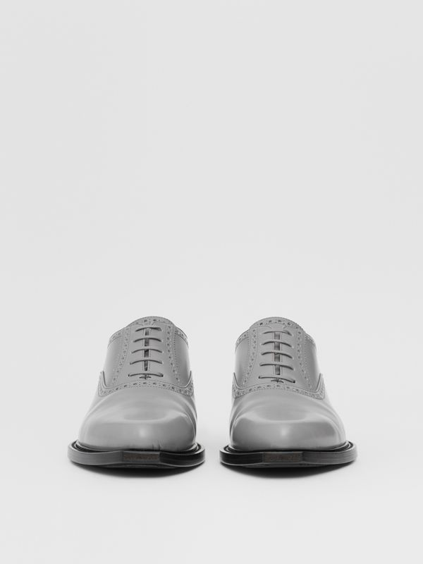Leather Slingback Oxford Brogues in Cloud Grey | Burberry Canada - cell image 3