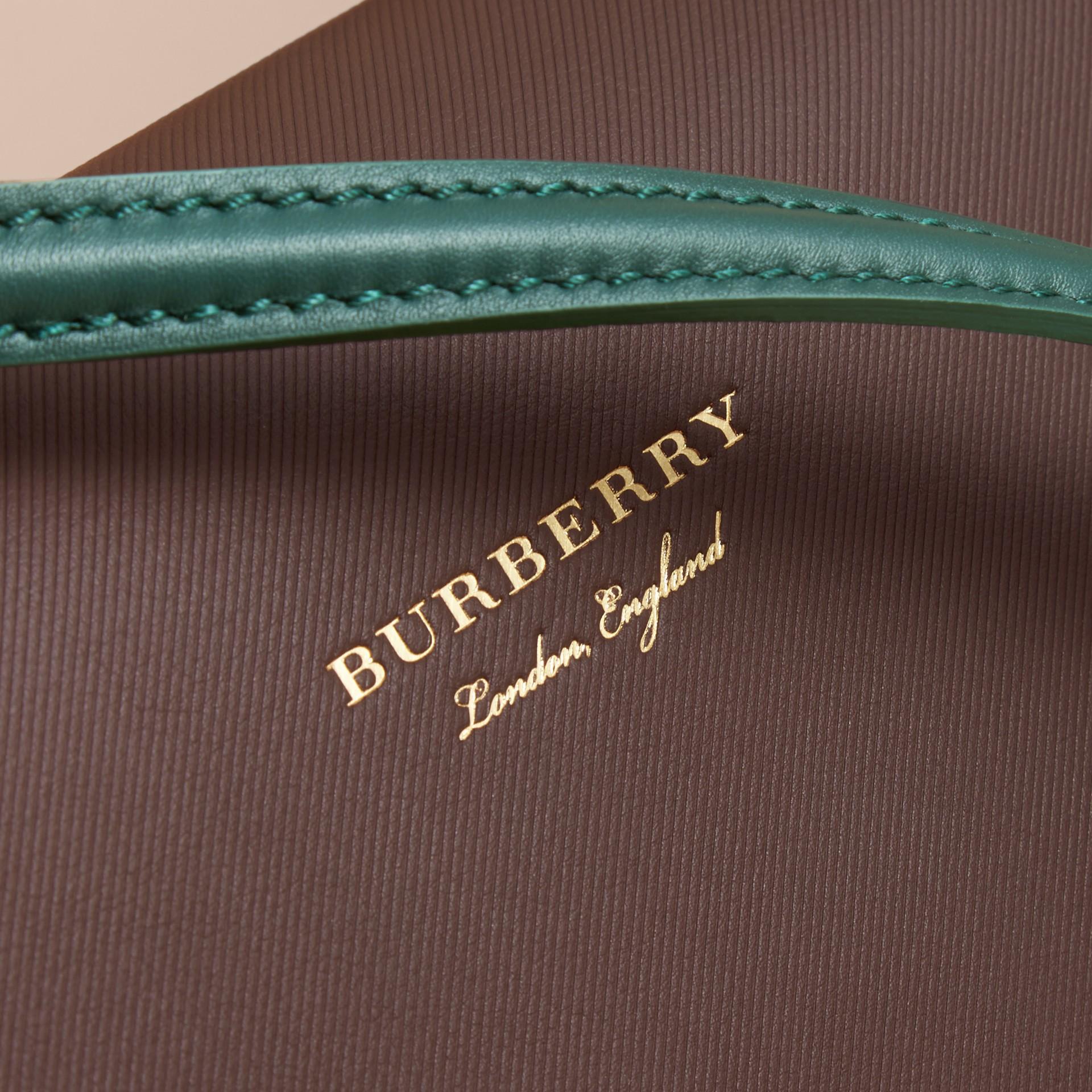 The Medium DK88 Top Handle Bag Dark Chocolate - gallery image 2