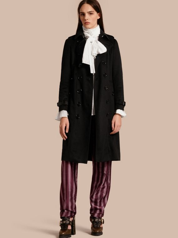 Trench coat Sandringham in cashmere Nero