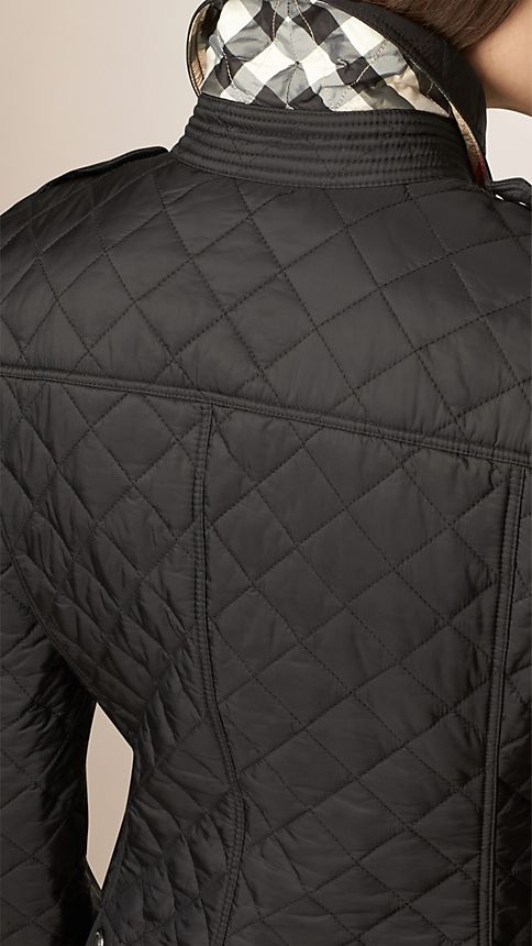 Black Diamond Quilted Jacket Black - Image 5