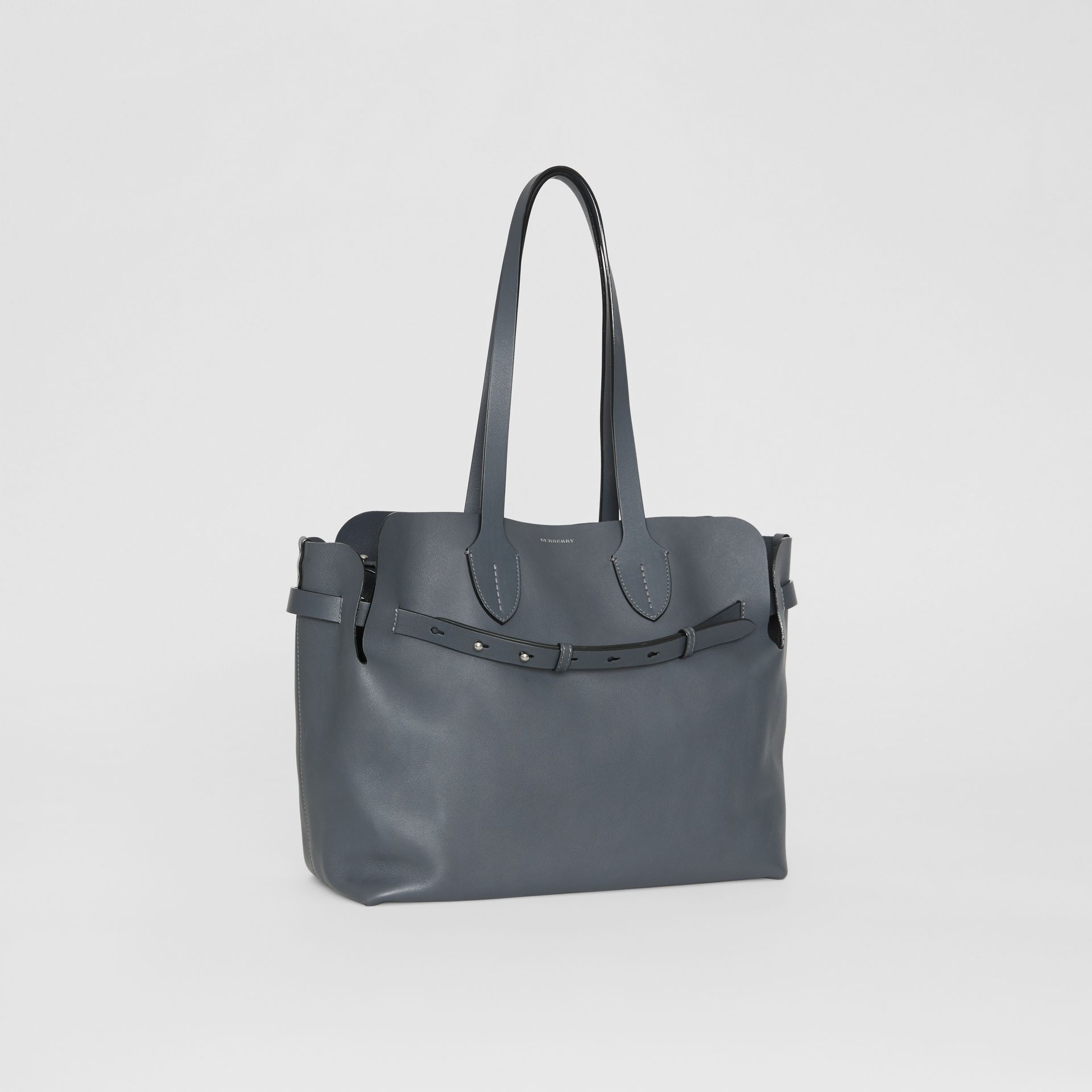 The Medium Soft Leather Belt Bag in Dark Pewter Grey - Women | Burberry United States - gallery image 6
