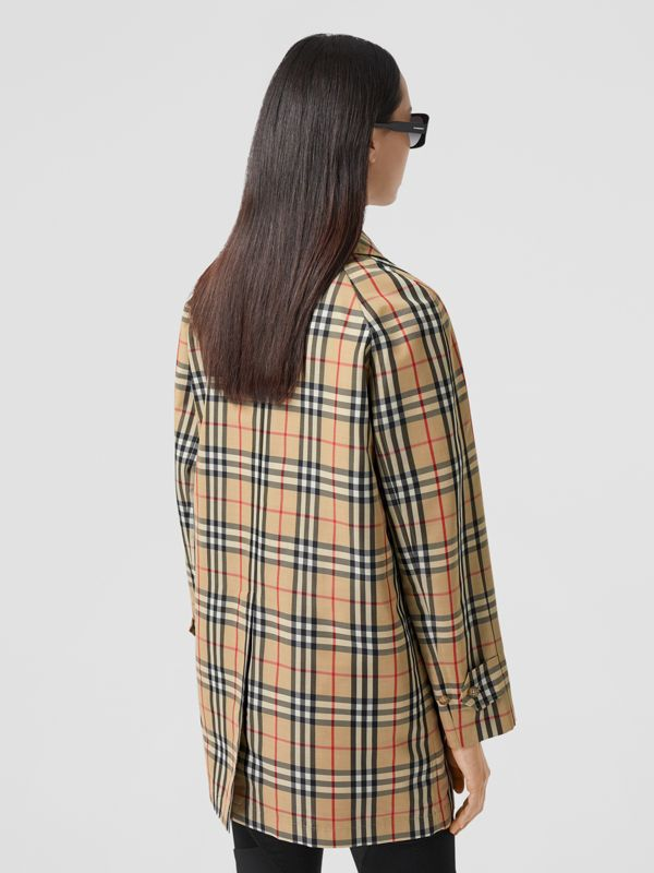 Vintage Check Recycled Polyester Car Coat in Archive Beige - Women | Burberry United States - cell image 2