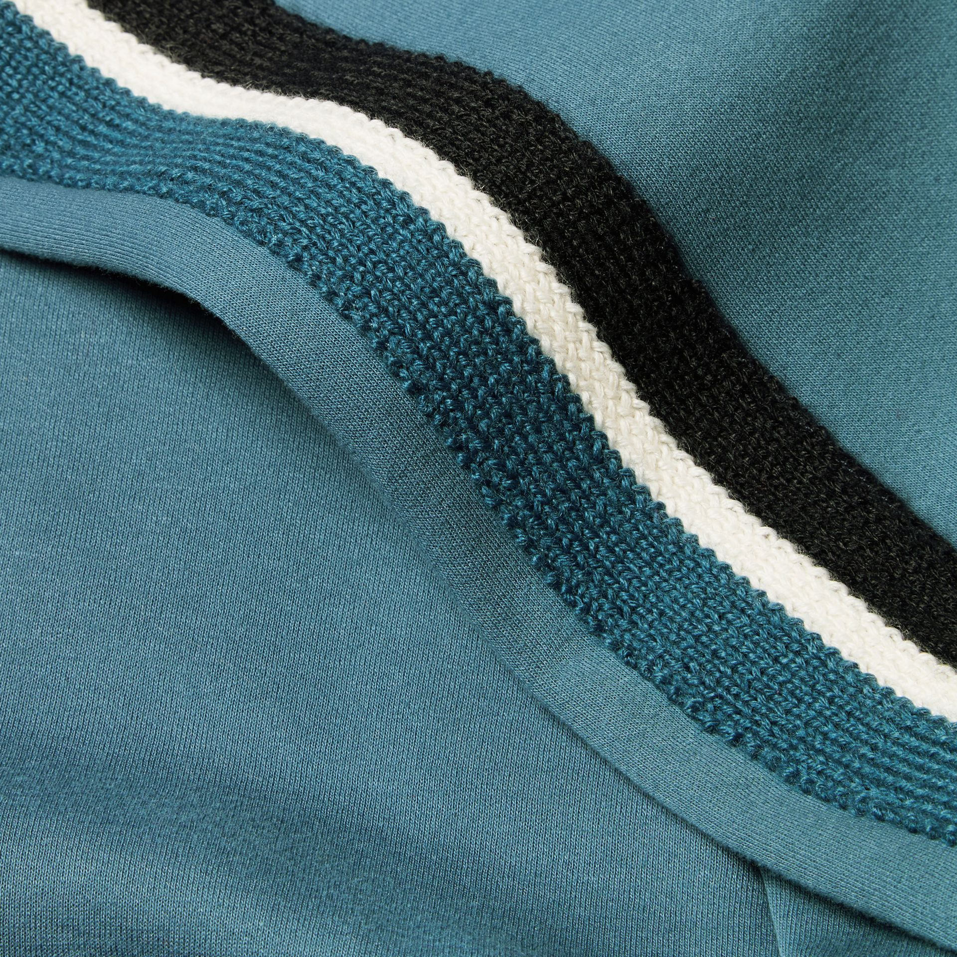 Stripe Detail Cotton Blend Jersey Track Top - gallery image 2