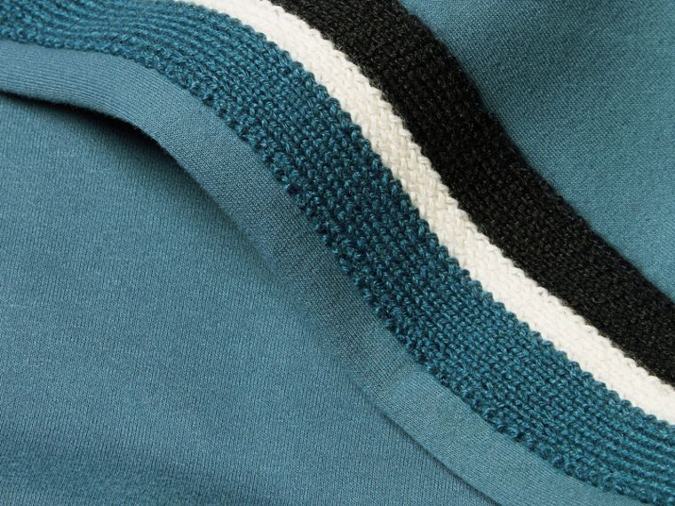 Stripe Detail Cotton Blend Jersey Track Top - cell image 1