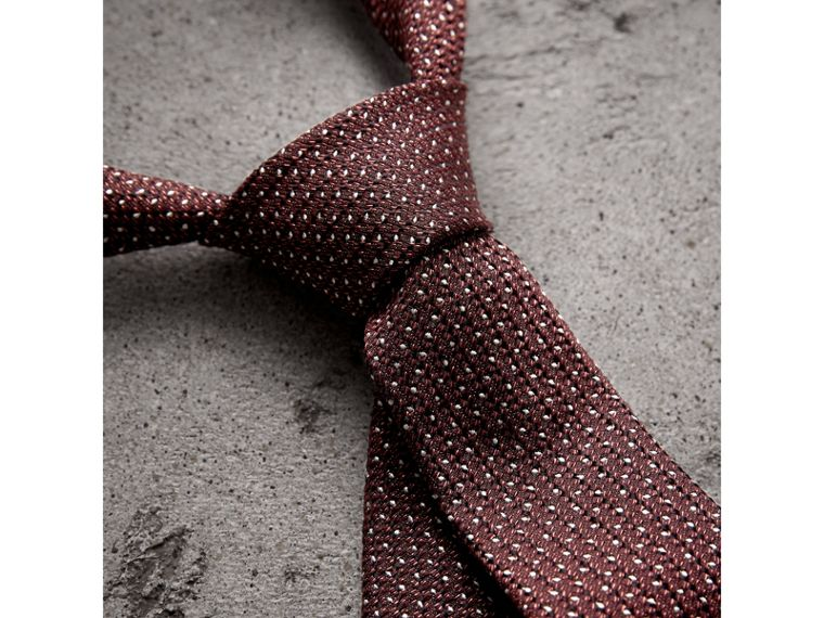 Slim Cut Pinpoint Wool Silk Tie in Cinnamon - Men | Burberry - cell image 1