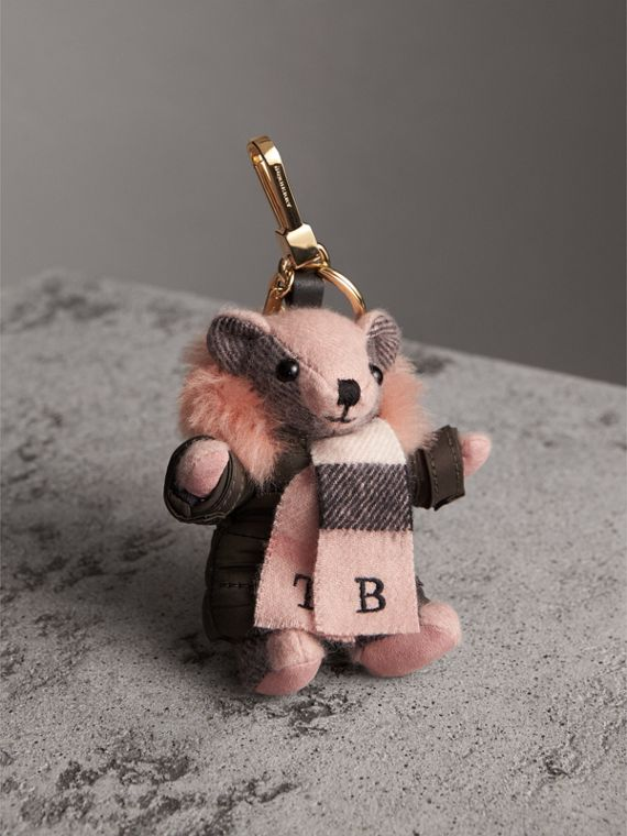 Thomas Bear Charm in Puffer Coat and Scarf - Women | Burberry Singapore