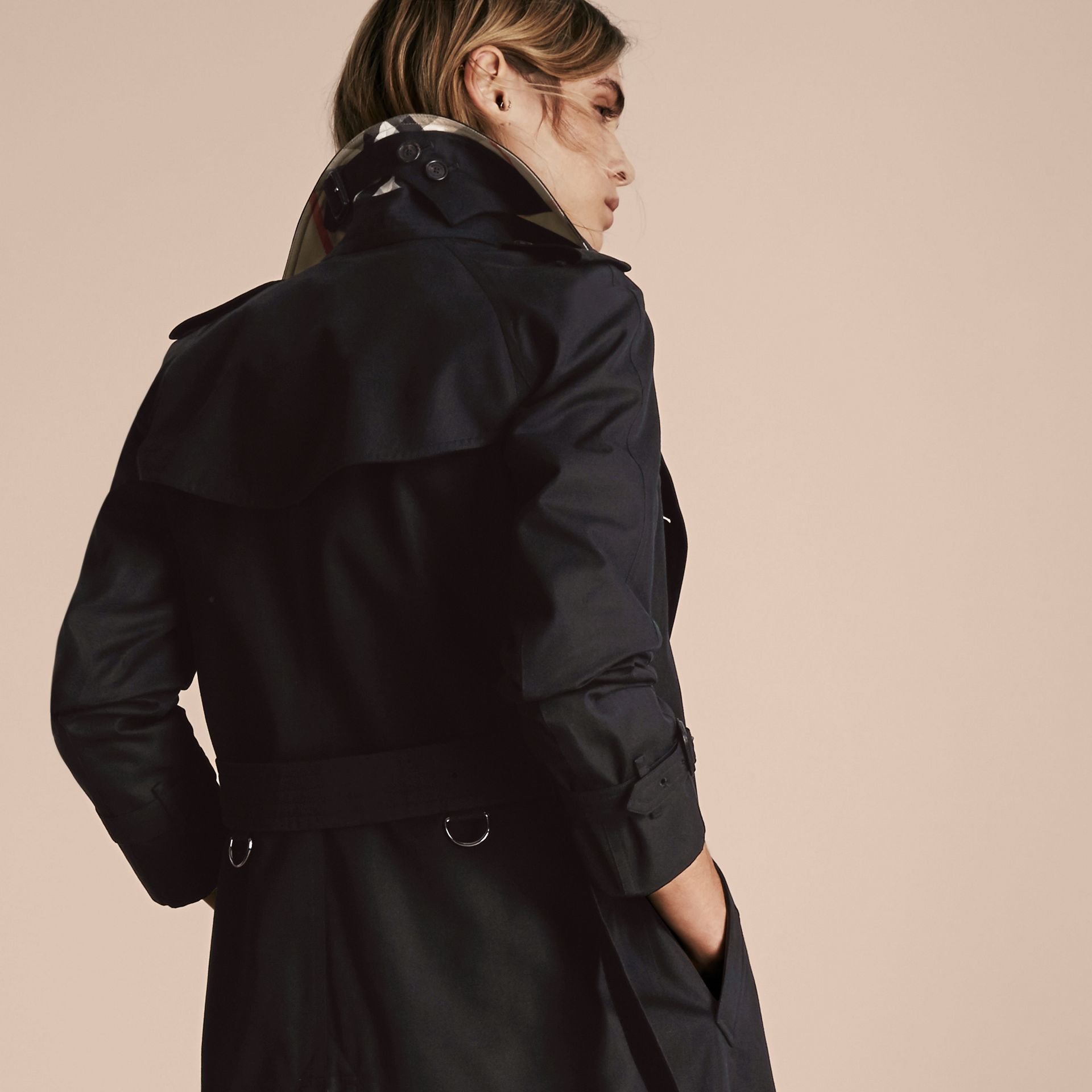Black The Westminster – Mid-Length Heritage Trench Coat Black - gallery image 7