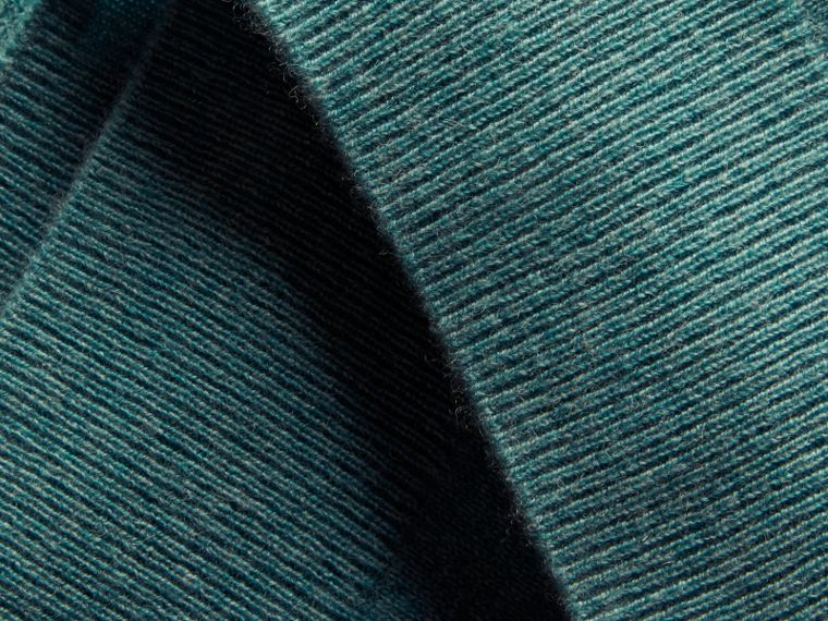 Dusty teal Puff-sleeved Cashmere Sweater Dusty Teal - cell image 1