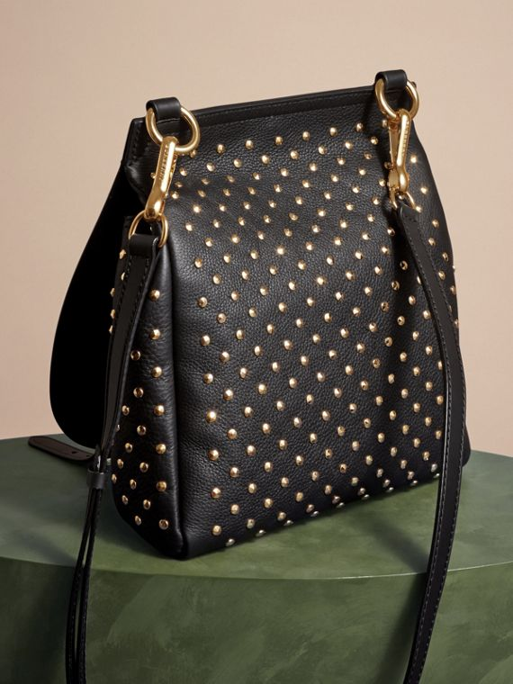 Black The Small Bridle Bag in Riveted Leather - cell image 3