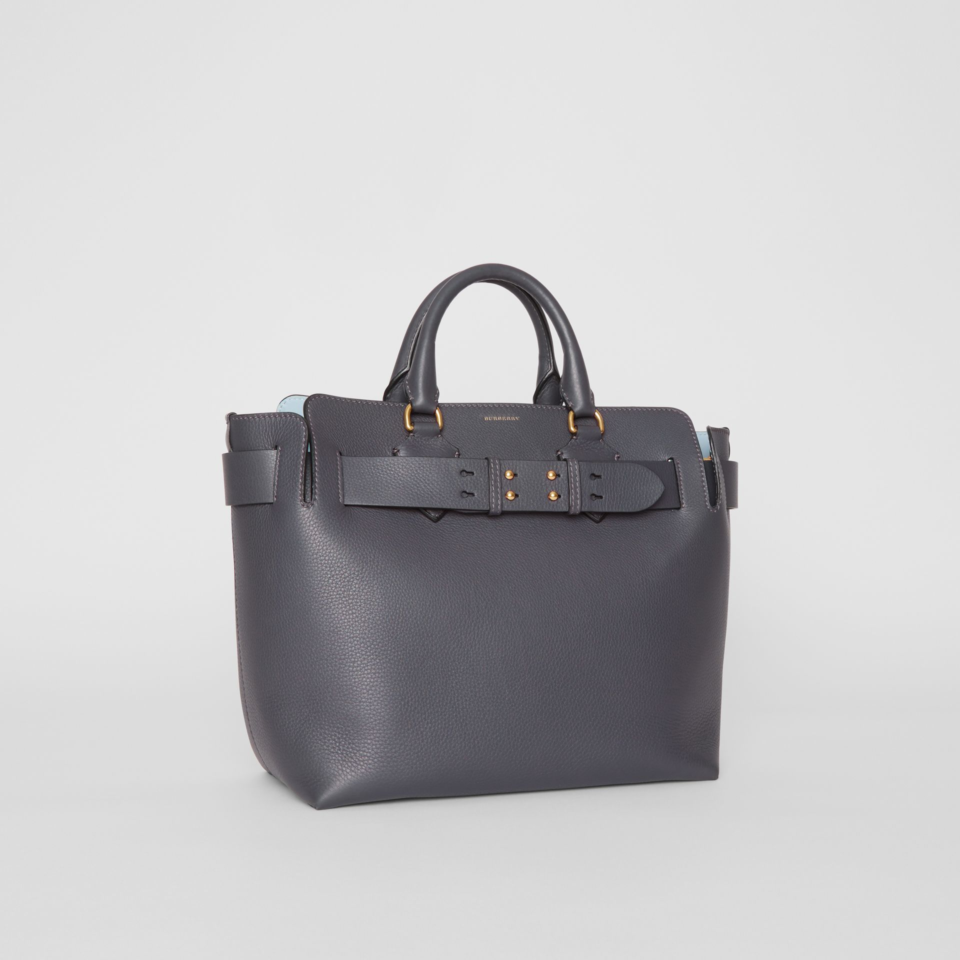 The Medium Leather Belt Bag in Charcoal Grey - Women | Burberry United States - gallery image 6