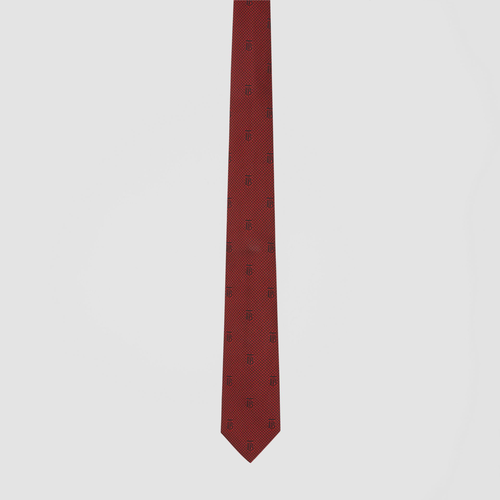 Classic Cut Puppytooth Check Silk Tie in Parade Red - Men | Burberry United States - gallery image 3