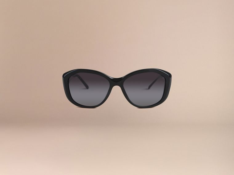 Black Gabardine Lace Collection Square Frame Sunglasses Black - cell image 4