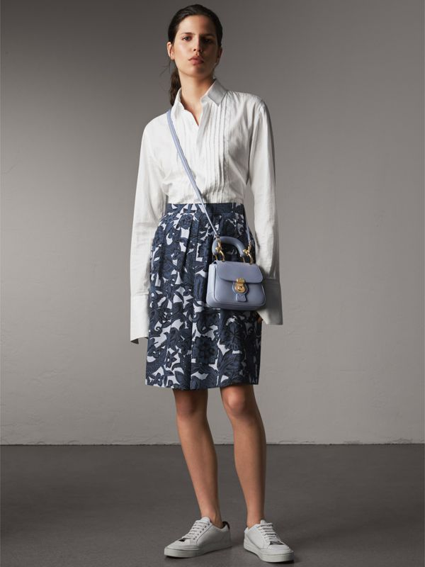 The Mini DK88 Top Handle Bag in Slate Blue - Women | Burberry - cell image 2