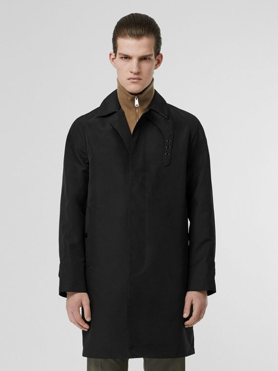 Bonded Car Coat with Warmer in Black