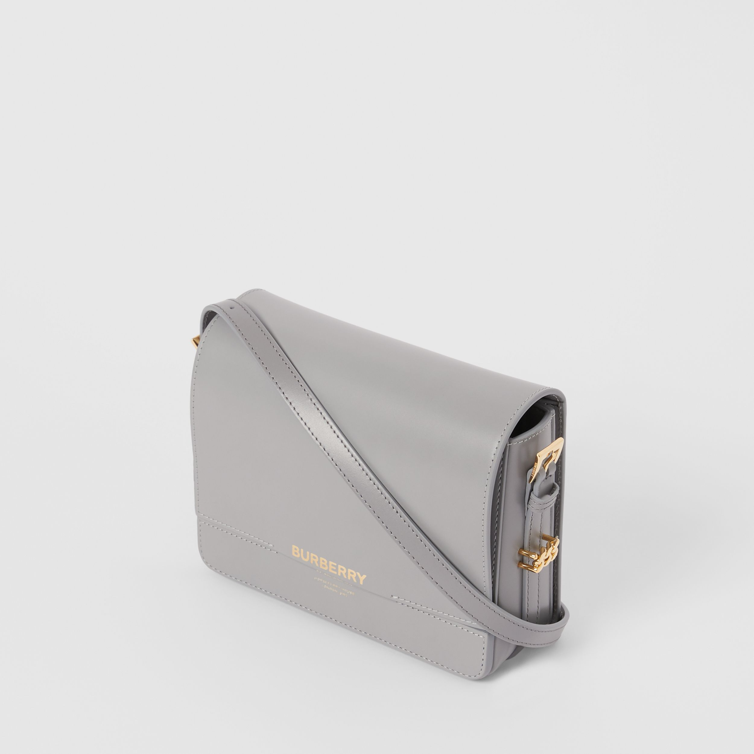 Small Two-tone Leather Grace Bag in Heather Grey/cloud Grey - Women | Burberry Hong Kong S.A.R. - 3