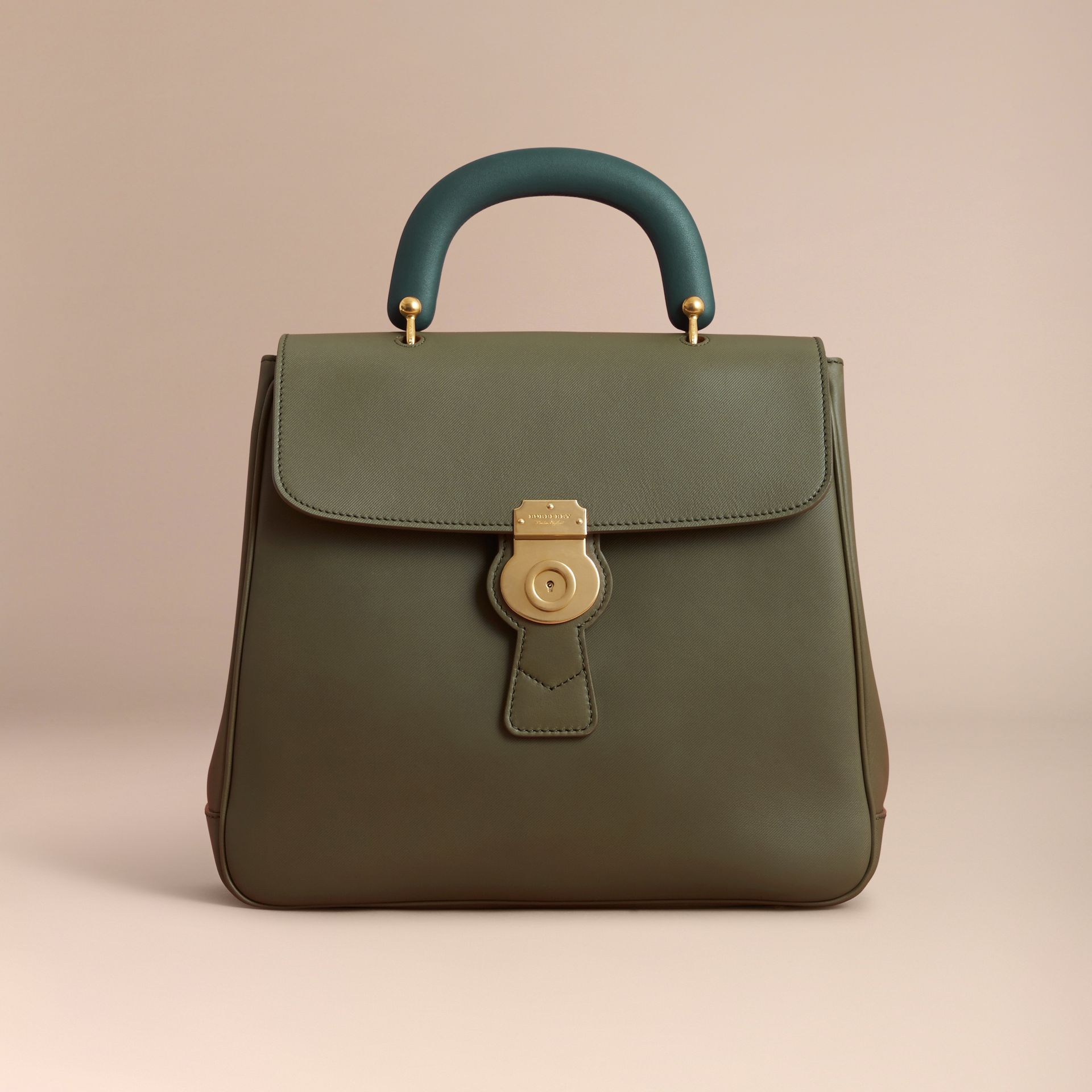 The Large DK88 Top Handle Bag in Moss Green - Women | Burberry United States - gallery image 6
