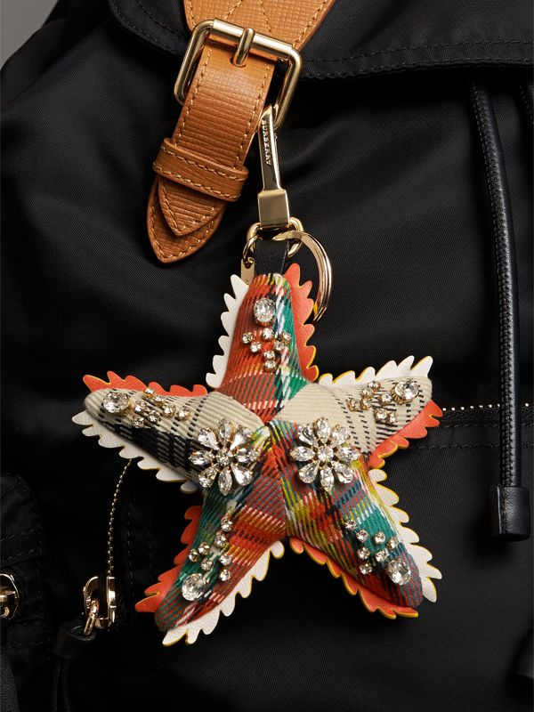 Phil the Starfish Cotton Charm in Orange/multicolour | Burberry - cell image 2