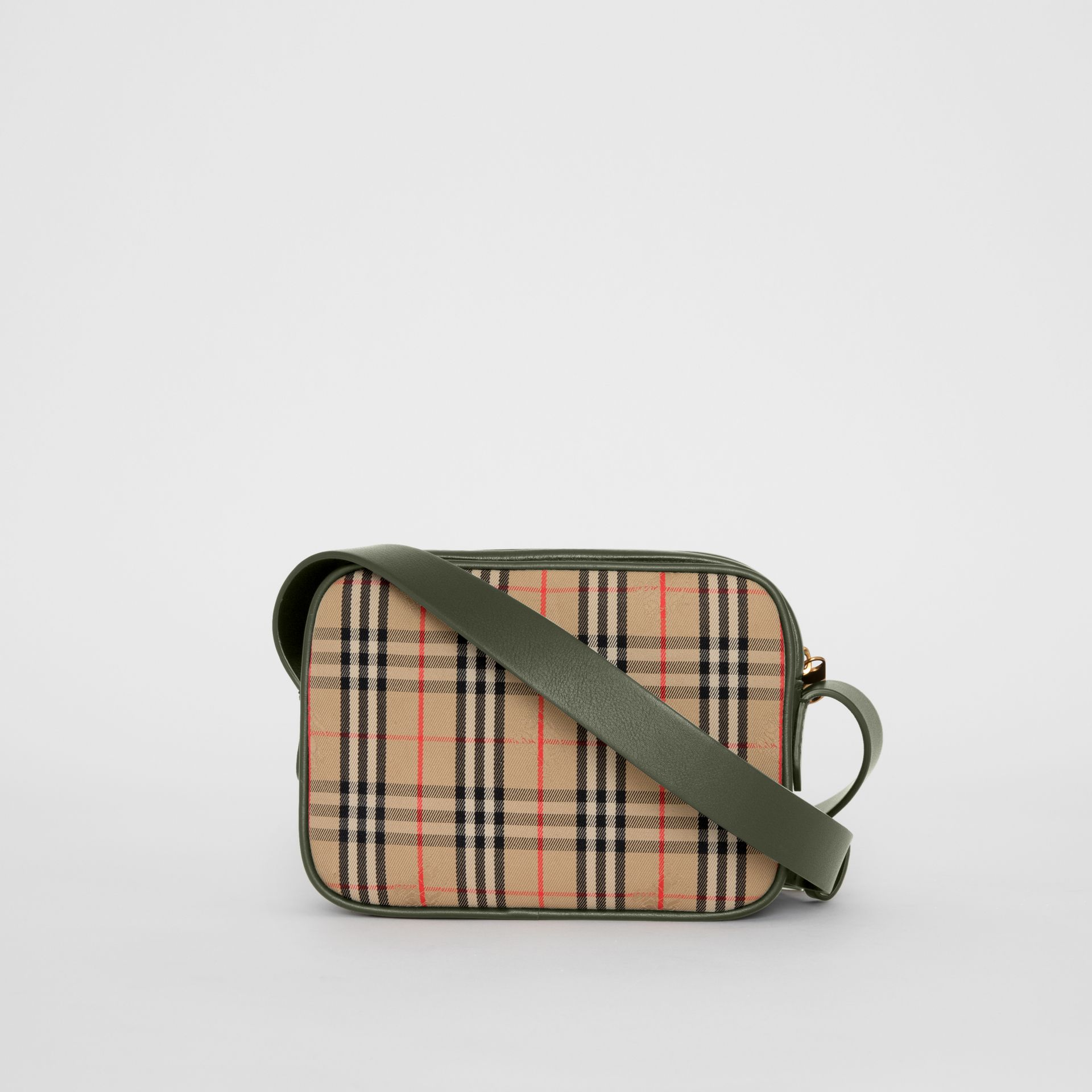 The 1983 Check Link Camera Bag in Dark Forest Green - Men | Burberry - gallery image 5
