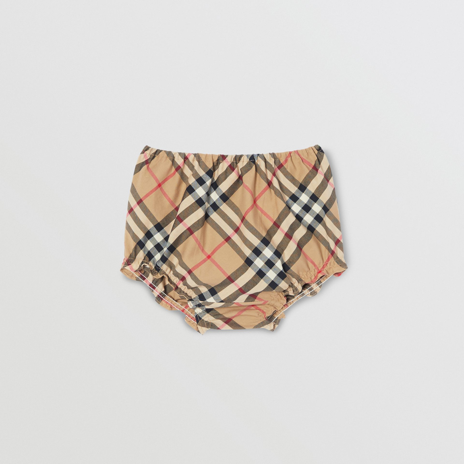 Vintage Check Cotton Dress with Bloomers in Archive Beige - Children   Burberry United Kingdom - gallery image 5