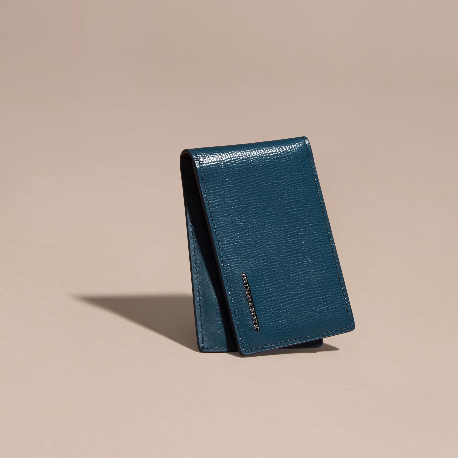 Mineral blue London Leather ID Wallet Mineral Blue - gallery image 3
