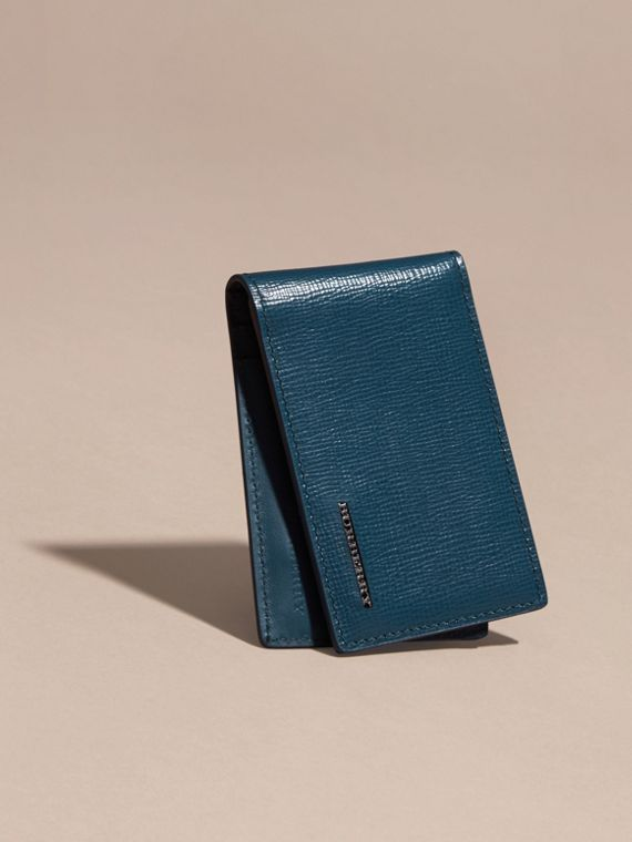 London Leather ID Wallet Mineral Blue - cell image 2