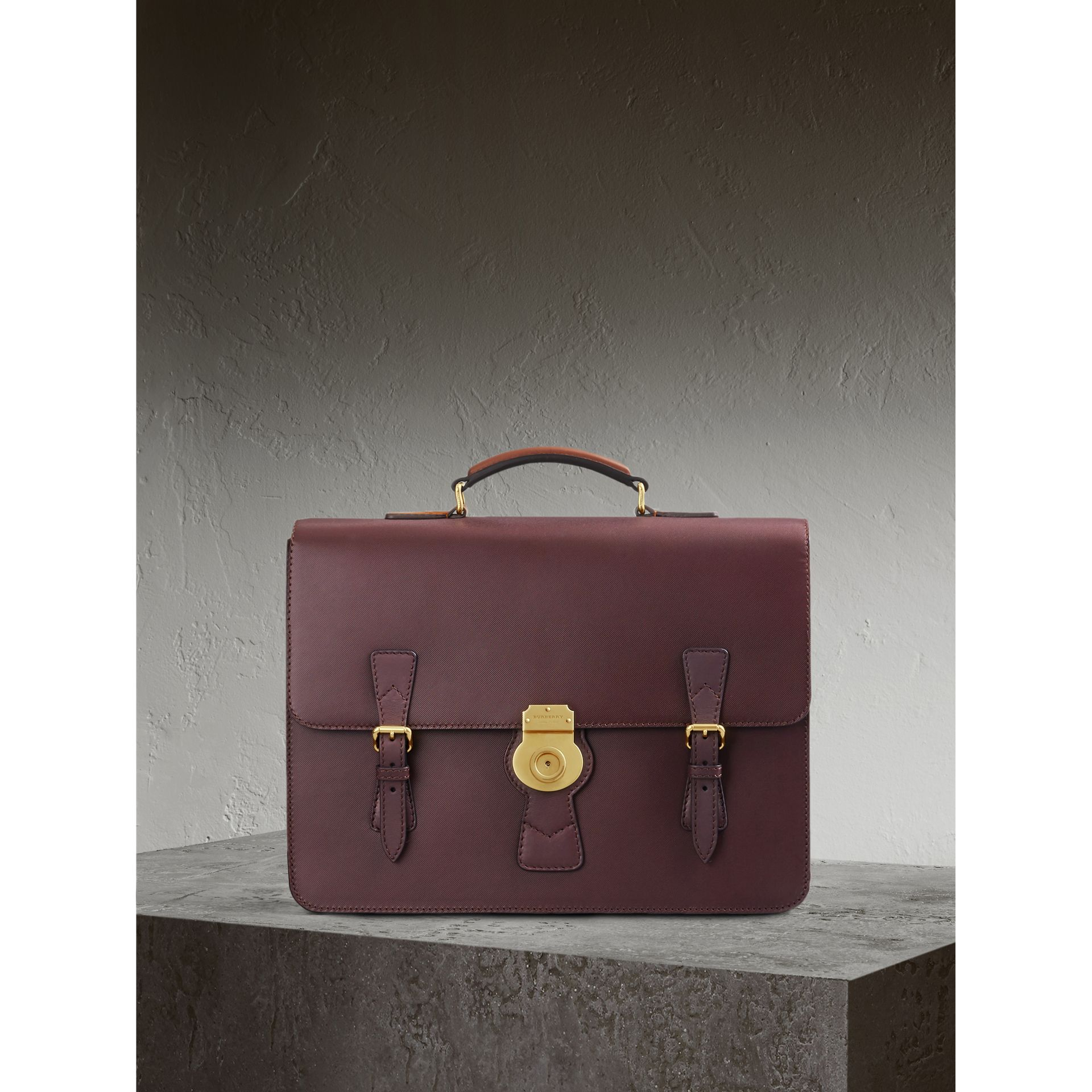 The Medium DK88 Satchel in Wine - Men | Burberry - gallery image 1