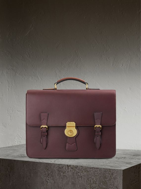 The Medium DK88 Satchel in Wine - Men | Burberry