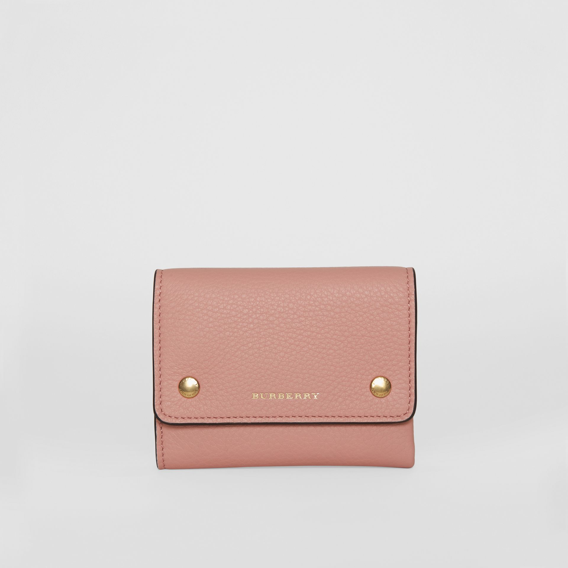 Small Leather Folding Wallet in Ash Rose - Women | Burberry - gallery image 0