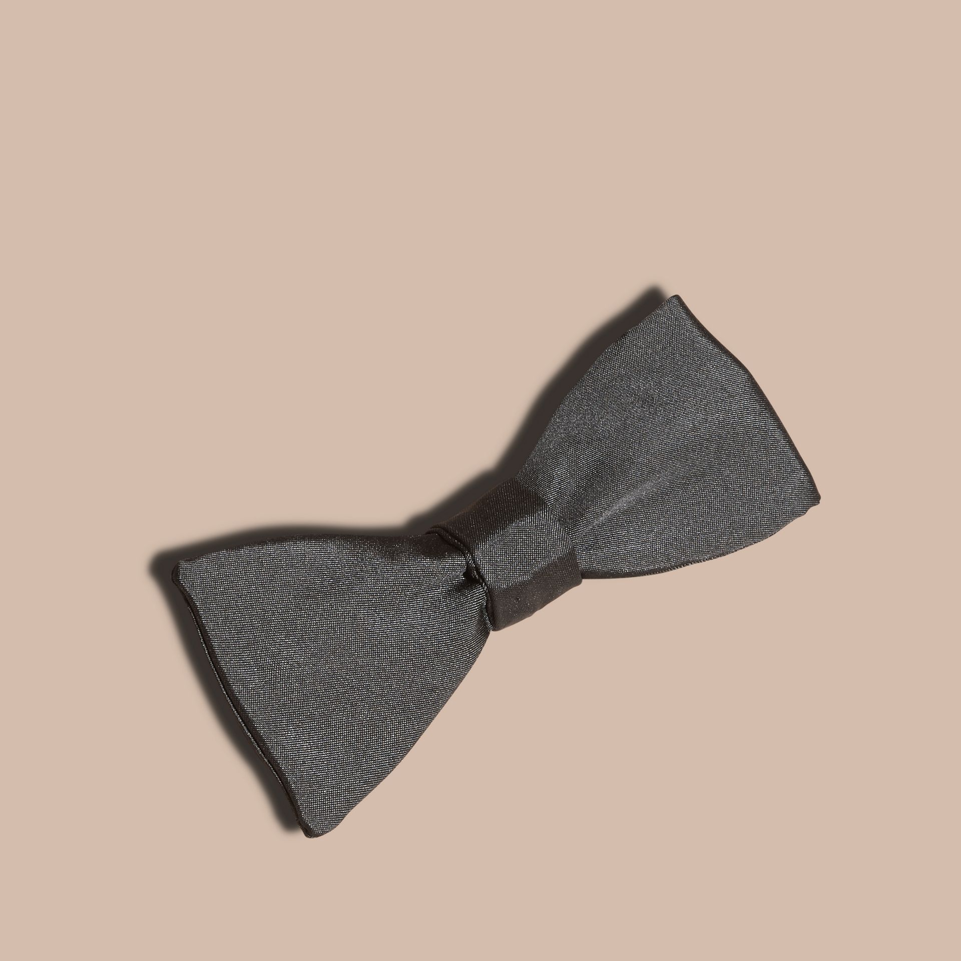 Black Silk Self-Tie Bow Tie - gallery image 6
