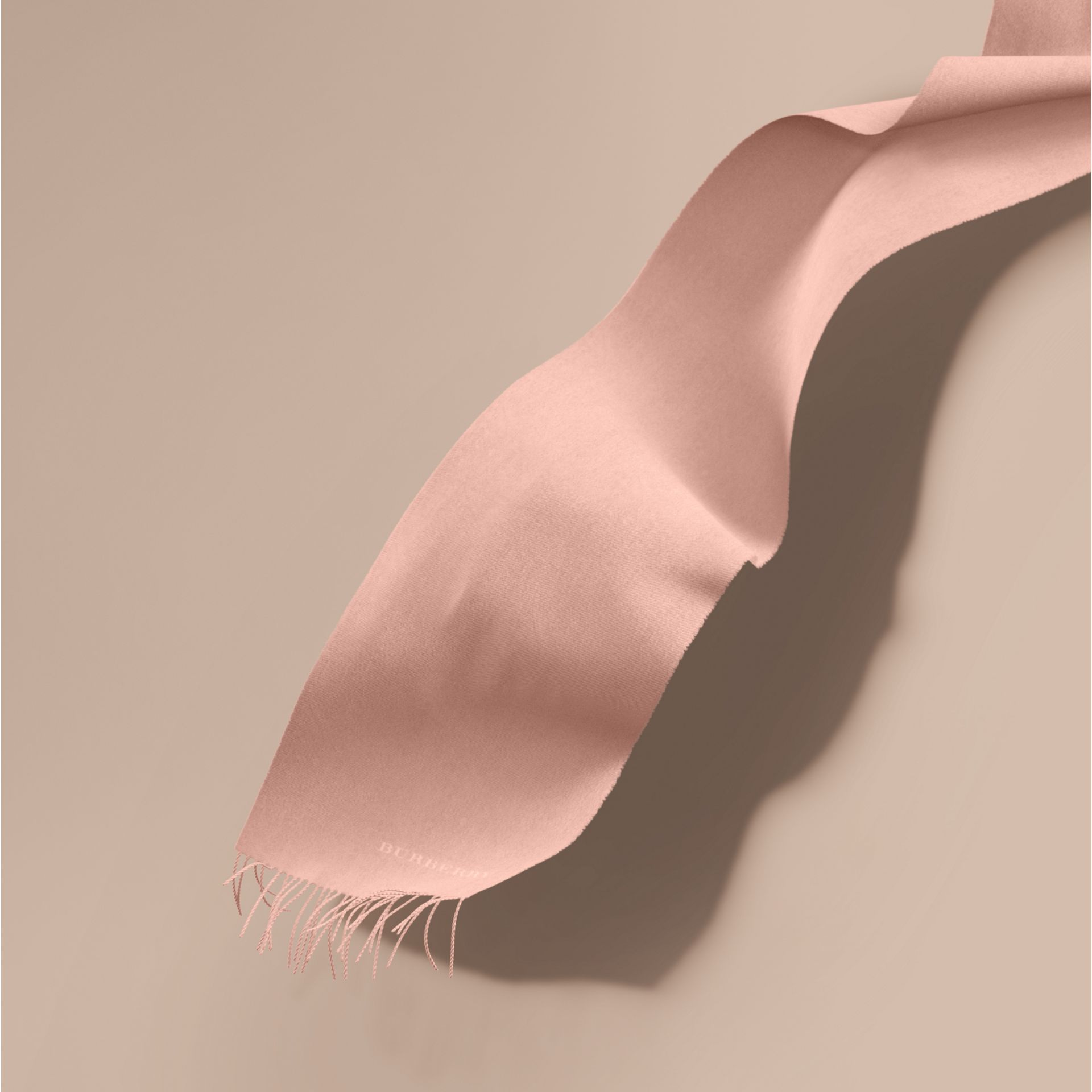 The Classic Cashmere Scarf in Ash Rose | Burberry Australia - gallery image 1