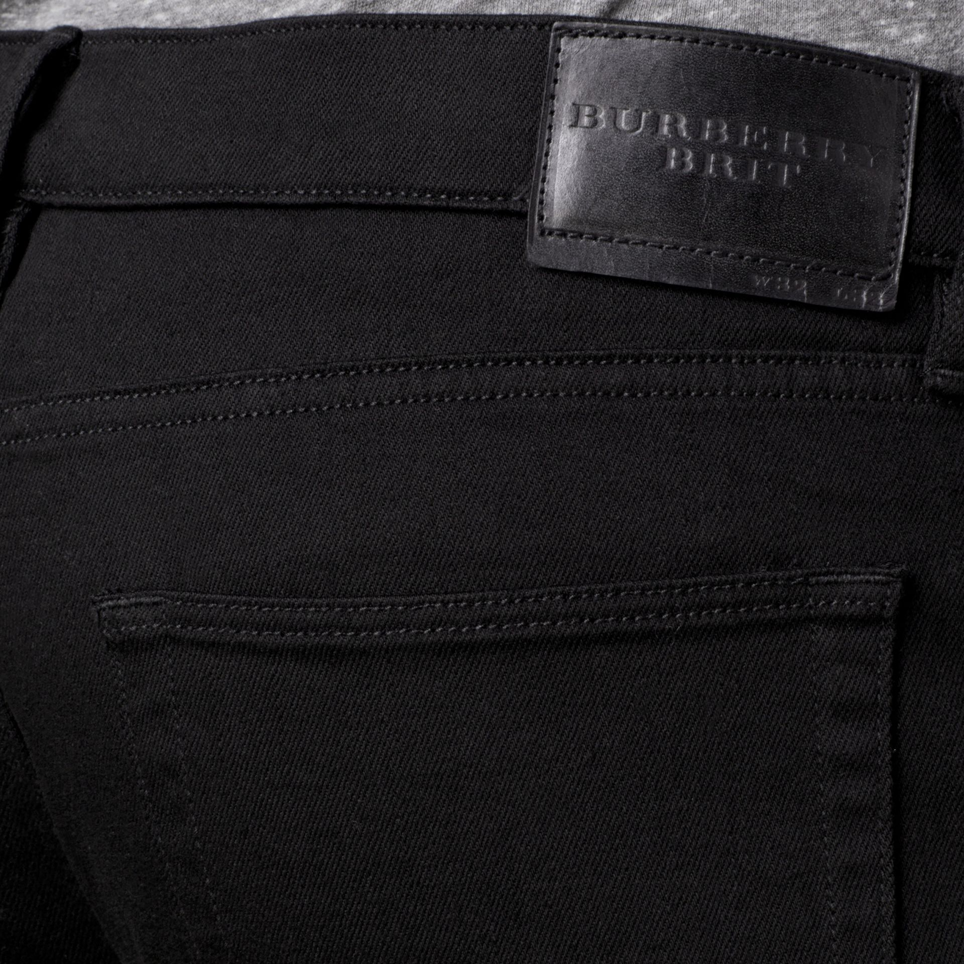 Slim Fit Deep Black Jeans - Men | Burberry - gallery image 3