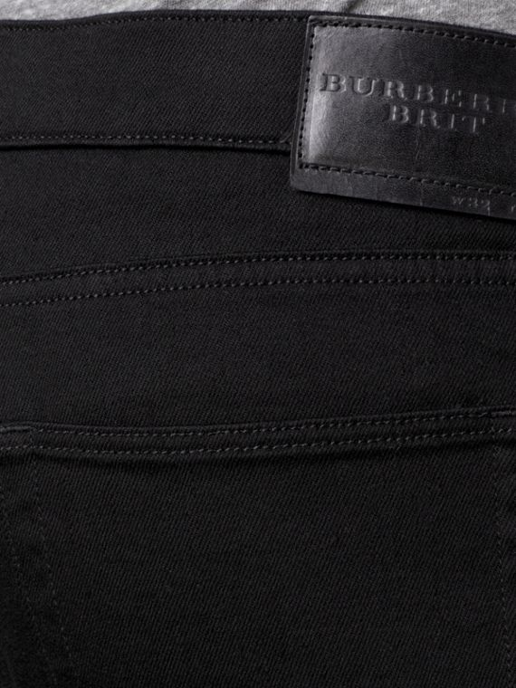 Slim Fit Deep Black Jeans - Men | Burberry - cell image 3