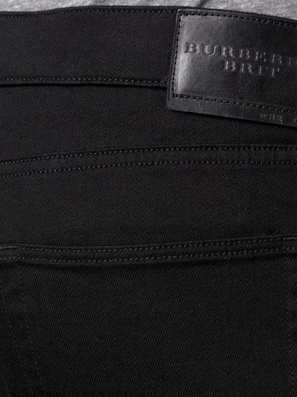 Jeans em corte slim preto - Homens | Burberry - cell image 3