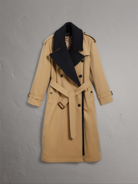 Tropical Gabardine Trench Coat with Detachable Facing in Honey - Women | Burberry Canada - cell image 3