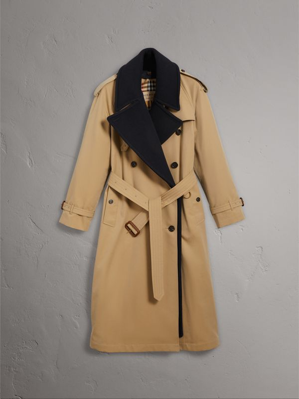 Tropical Gabardine Trench Coat with Detachable Facing in Honey - Women | Burberry - cell image 3