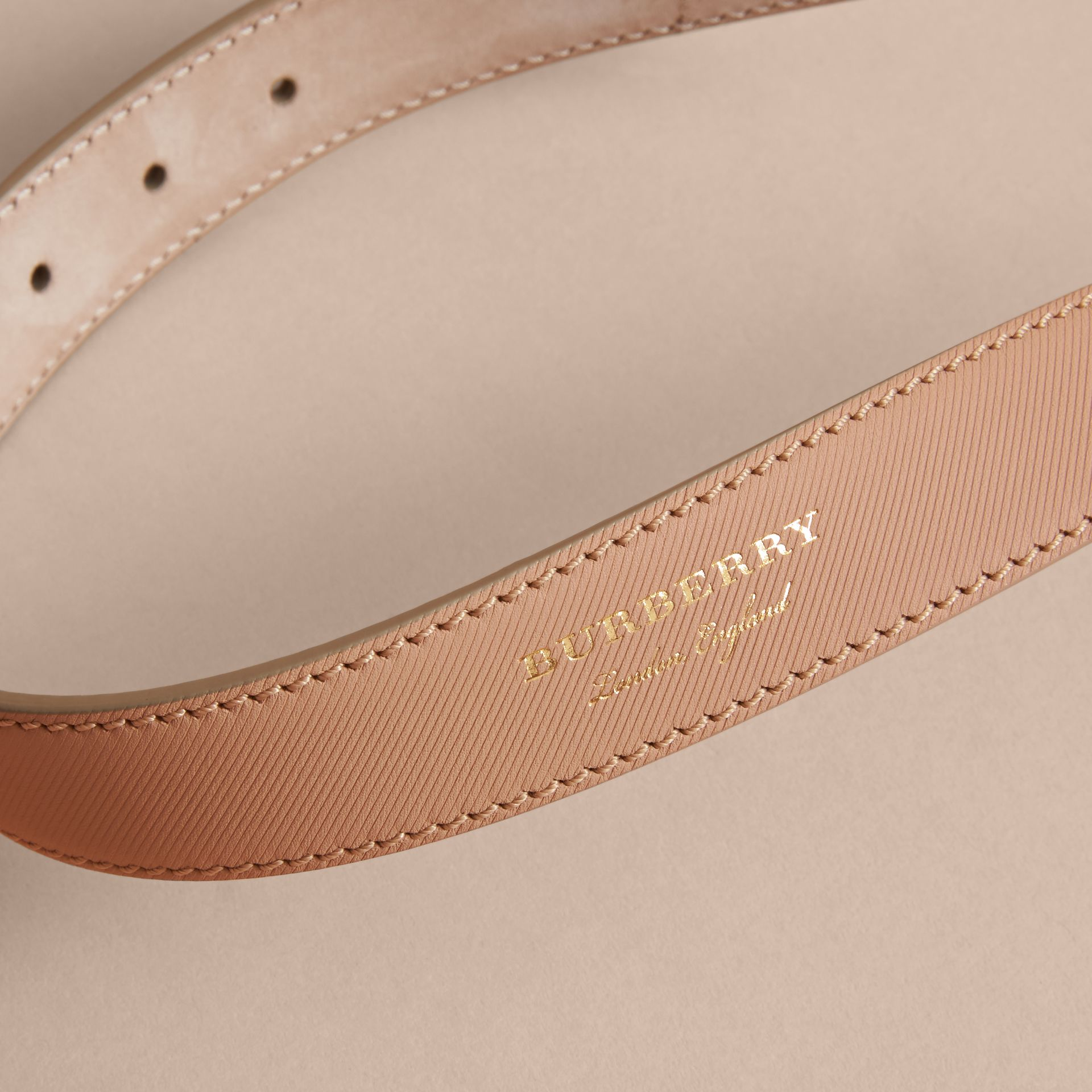 Trench Leather Belt in Honey - Women | Burberry - gallery image 4