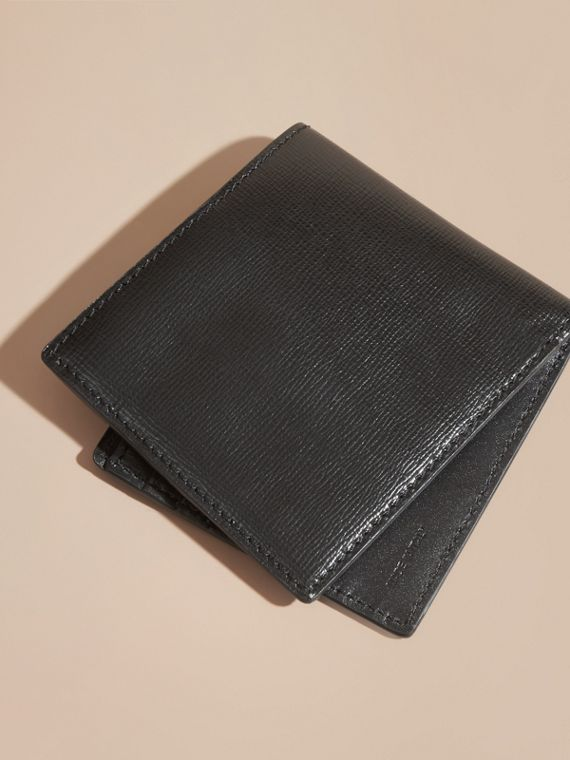 London Leather Folding Wallet Black - cell image 2
